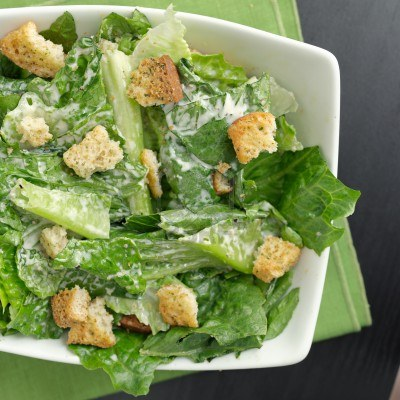 Learn how to make a healthy Caesar salad!
